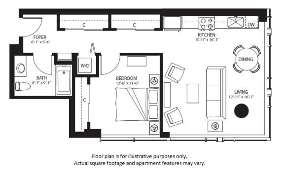 Floor Plan  A28 North NEW at The Bravern, Bellevue, WA