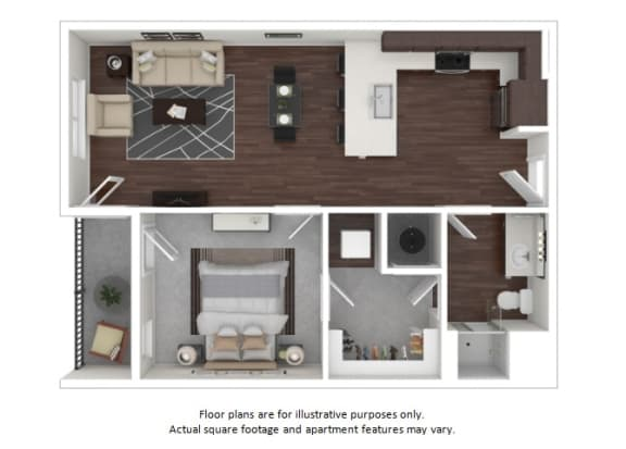 Floor Plan  A3 3D disclaimer at The Casey, 2100 Delgany, 80202