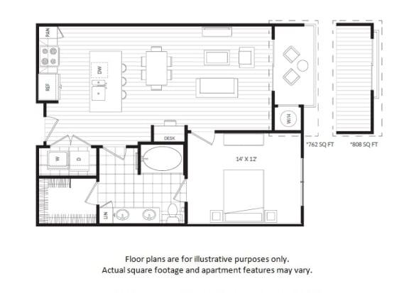 Floor Plan  Oak Hill A3 floor plan