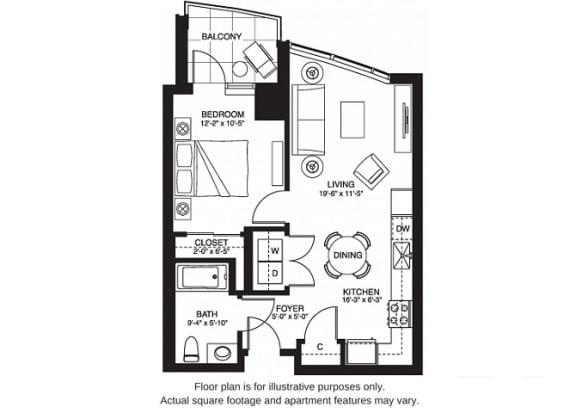 Floor Plan  A3 South at The Bravern, Bellevue, WA