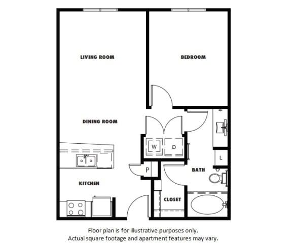Floor Plan  A3A floor plan at Windsor Metro West, Plano, TX
