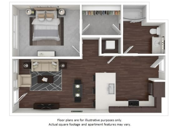 Floor Plan  A4 3D disclaimer at The Casey, Denver, CO