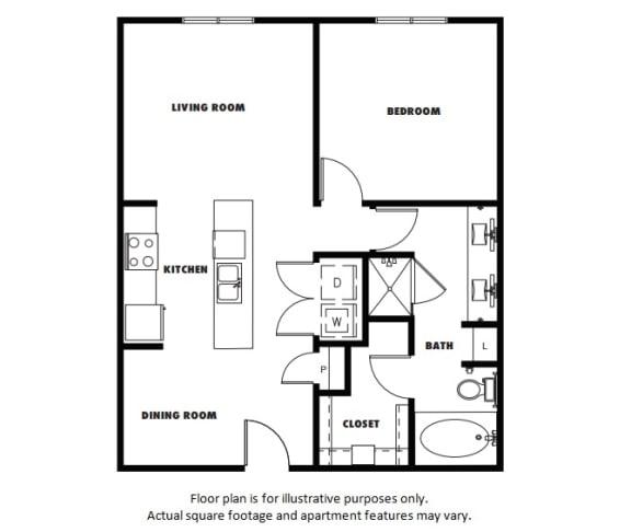 Floor Plan  A4  Floor Plan at Windsor Metro West, Plano, TX