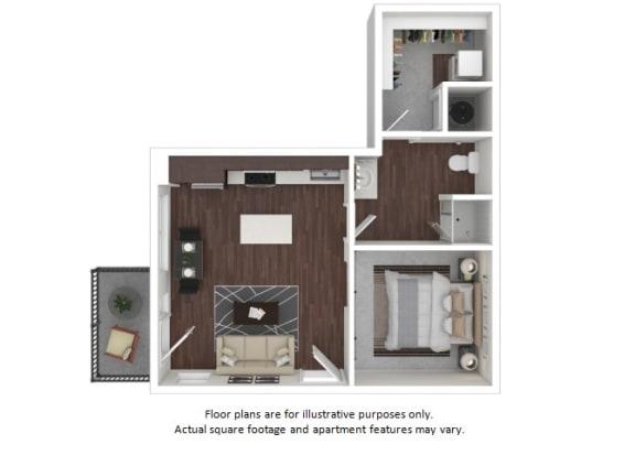 Floor Plan  A8 3D disclaimer floor plan at The Casey, 2100 Delgany, 80202