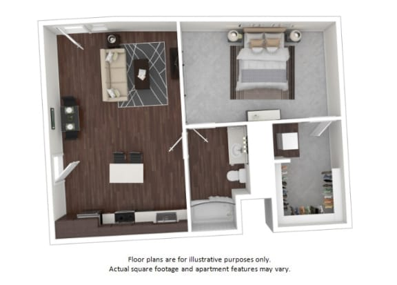 Floor Plan  A9 3D disclaimer floor plan at The Casey, Denver, CO