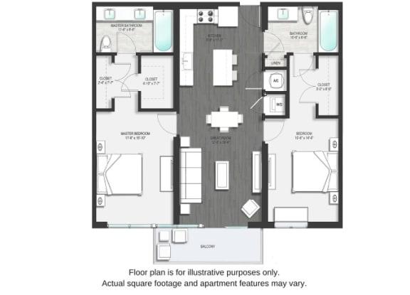 B1 Floor Plan Second Image at Allure by Windsor, Boca Raton, FL