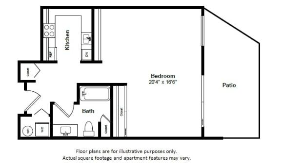Floor Plan  Antigua(1) floor plan at Tera Apartments, Kirkland, WA