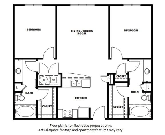 Floor Plan  B1 floor plan at Windsor Metro West, Plano, Texas