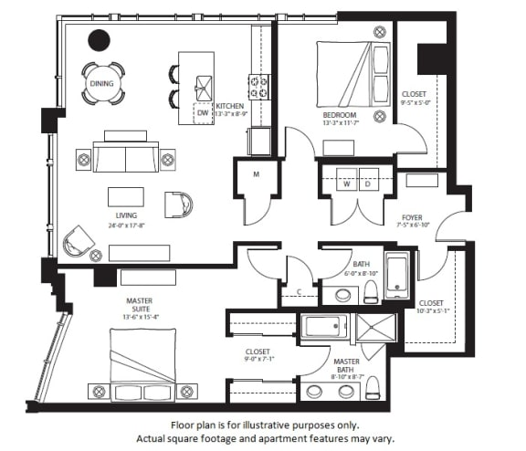 Floor Plan  B1 North NEW(1) at The Bravern, Washington, 98004
