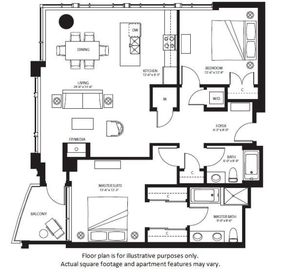 Floor Plan  B10 North NEW(1) at The Bravern, Bellevue, Washington