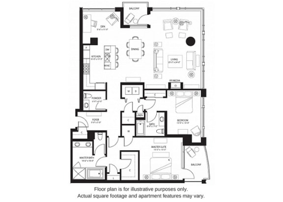 Floor Plan  B24 North floor plan at The Bravern, WA, 98004