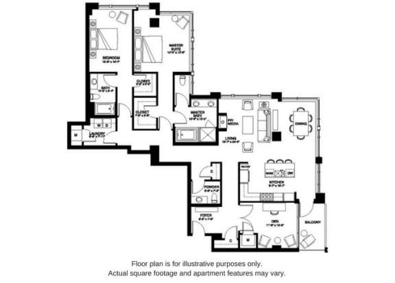 Floor Plan  B26 South at The Bravern, Bellevue, WA