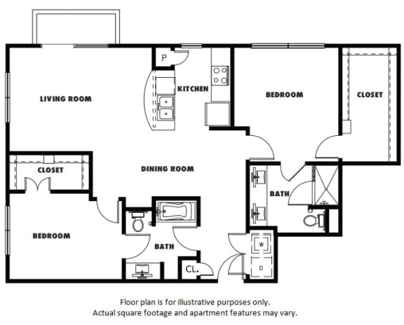 Floor Plan  B2A floor plan at Windsor Metro West, Plano, Texas