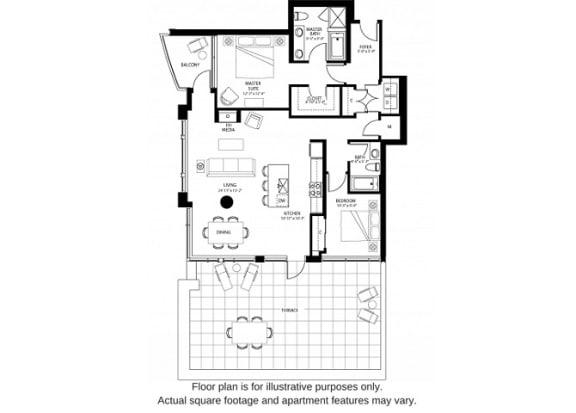 Floor Plan  B3 North floor plan at The Bravern, Washington, 98004
