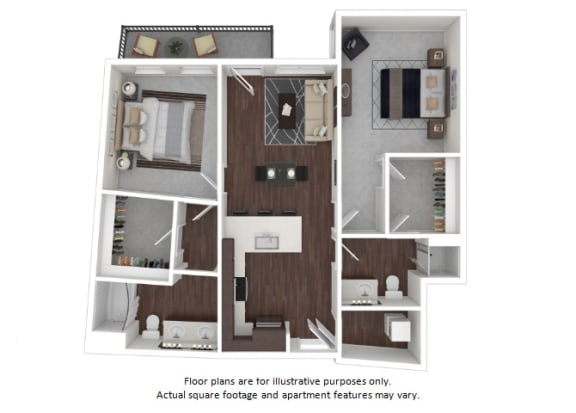 Floor Plan  B4 3D disclaimer floor plan at The Casey, Denver, Colorado