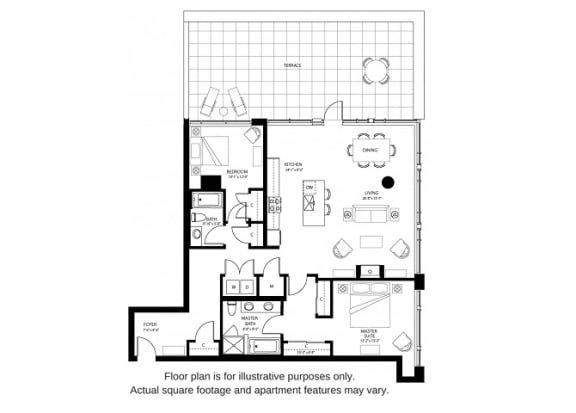 Floor Plan  B4 North floor plan at The Bravern, 688 110th Ave NE, 98004