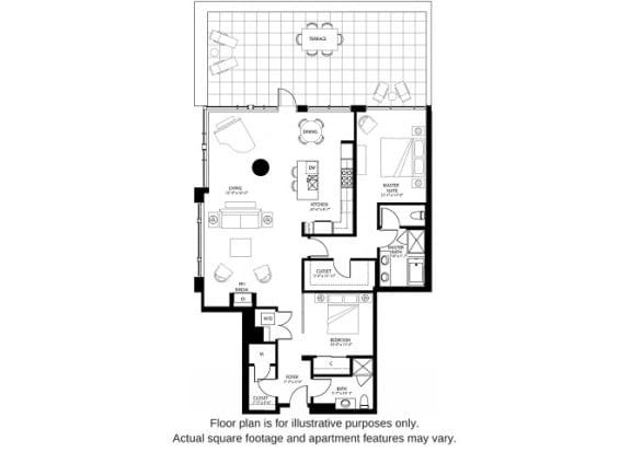 Floor Plan  B5 North(1) floor plan at The Bravern, Bellevue, WA