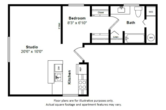 Floor Plan  Bali floor plan at Tera Apartments, Kirkland, Washington