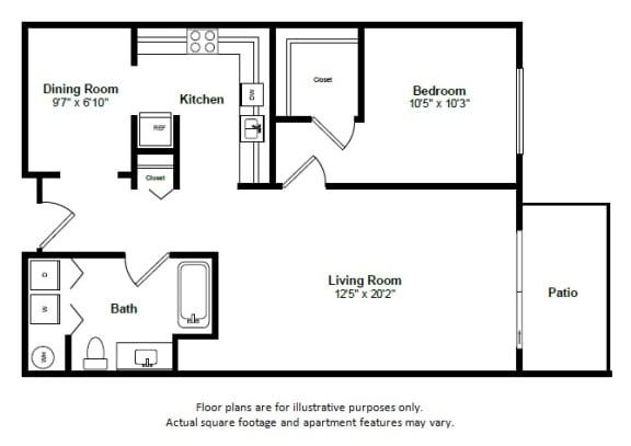 Floor Plan  Barbados floor plan at Tera Apartments, Washington, 98033