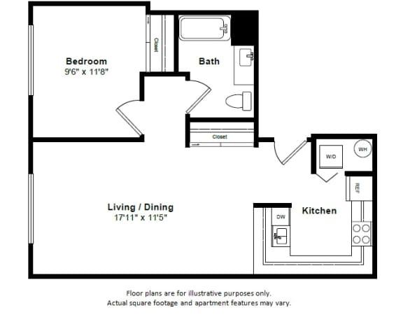 Floor Plan  Bora Bora floor plan at Tera Apartments, WA, 98033