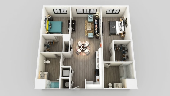 Floor Plan  Two Bed Two Bath Floor Plan at Edison on the Charles, Massachusetts