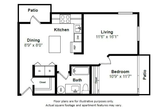 Floor Plan  Grenada floor plan at Tera Apartments, Washington, 98033