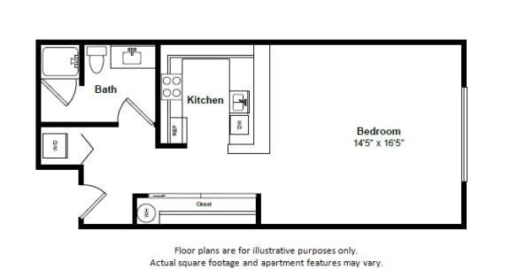 Floor Plan  Havana floor plan at Tera Apartments, 528 Central Way, 98033