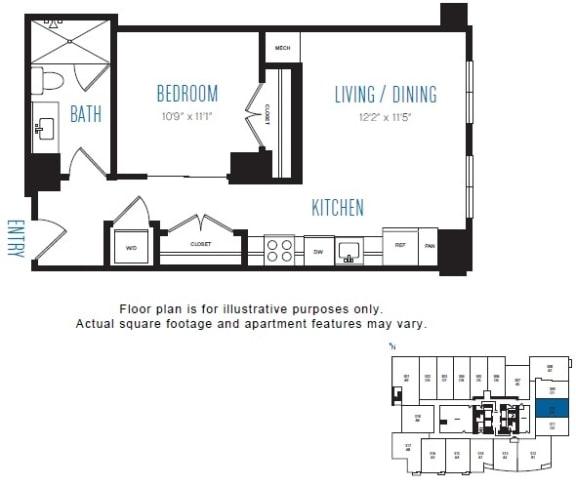 Floor Plan  O3 Floor Plan at Stratus, Seattle