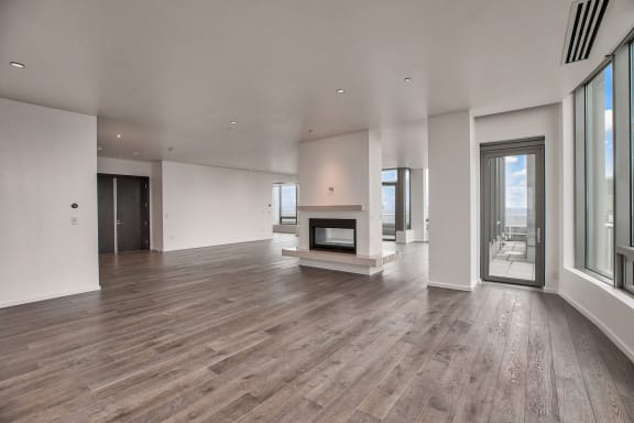 Penthouse with open design at The Bravern, Bellevue, WA