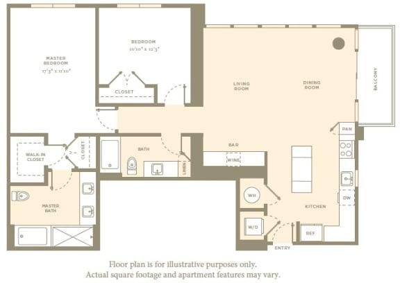 PH5 Floor Plan at Amaray Las Olas by Windsor, Florida, 33301