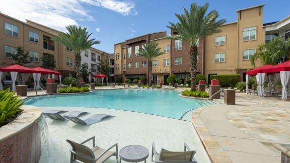 Resort style pool at Domain by Windsor, 1755 Crescent Plaza, 77077