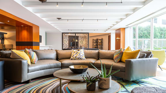 Clubroom seating at The Ridgewood by Windsor, Fairfax, VA