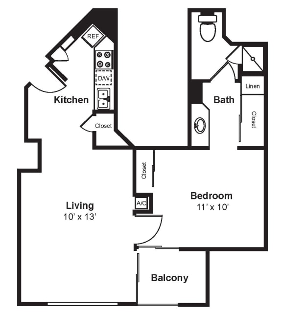 Floor Plan  A3_Dimension_V3 floor plan at Renaissance Tower, California, 90015