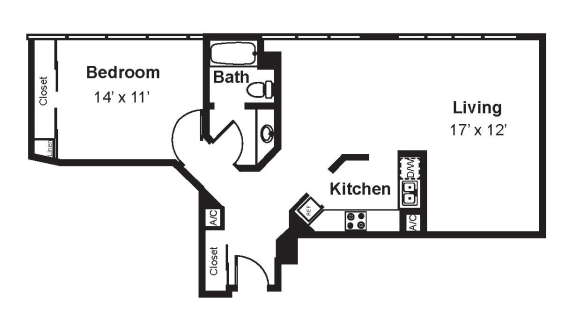 Floor Plan  A9_Dimensions_V3 floor plan at Renaissance Tower, California, 90015