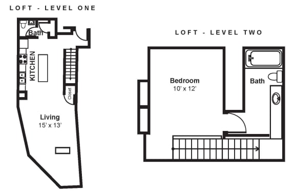 Floor Plan  B1_Dimension_V3 floor plan at Renaissance Tower, Los Angeles, California