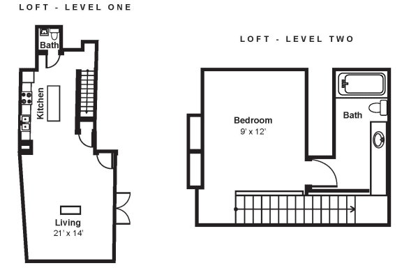 Floor Plan  B2_Dimension_V3 at Renaissance Tower, Los Angeles, California