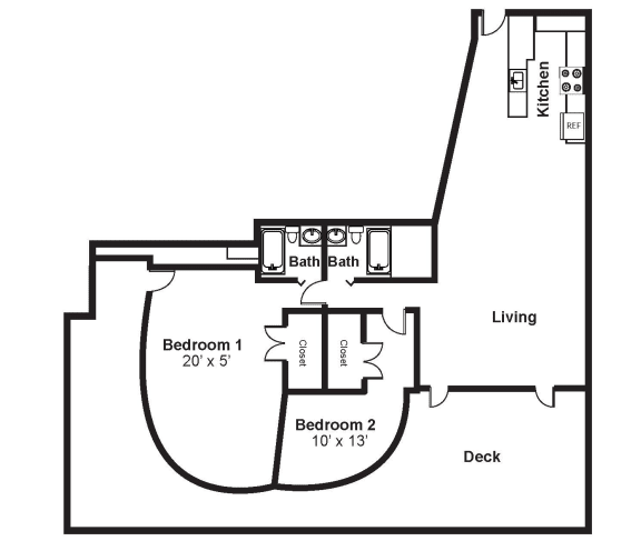 Floor Plan  D4_Dimension_V3 floor plan at Renaissance Tower, Los Angeles, California