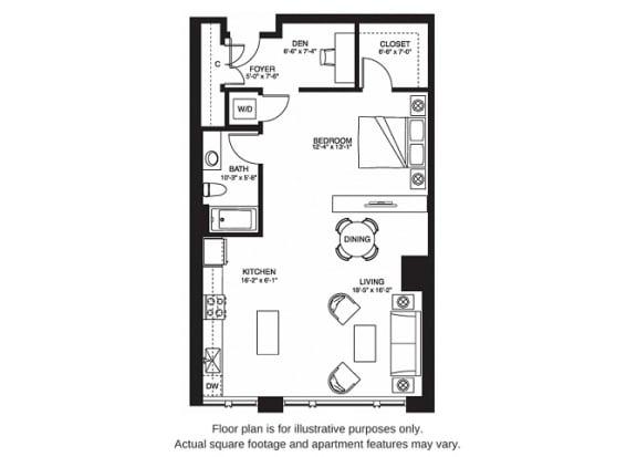 Floor Plan  S13 South floor plan at The Bravern, Bellevue, WA