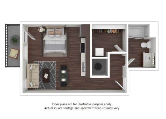 Floor Plan  S2 3D disclaimer floor plan at The Casey, Denver, CO