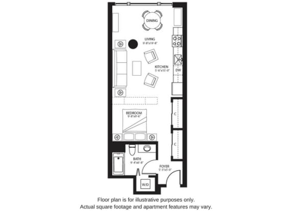 Floor Plan  S4 North floor plan at The Bravern, WA, 98004