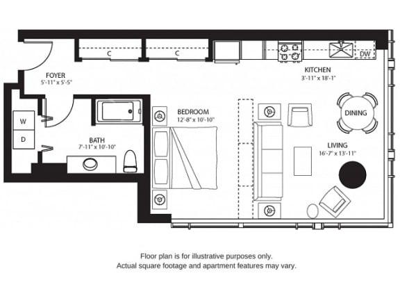 Floor Plan  S6 North(2) at The Bravern, Washington, 98004