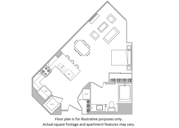 Floor Plan  Studio A floor plan at Cannery Park by Windsor, CA, 95112