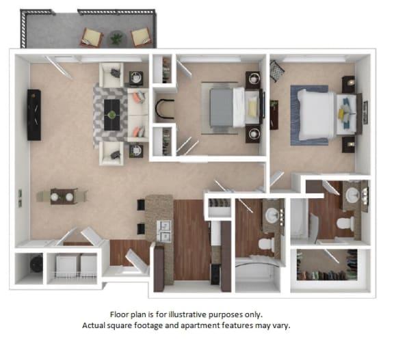 Floor Plan  23 F Floor Plan at The District, Colorado, 80222