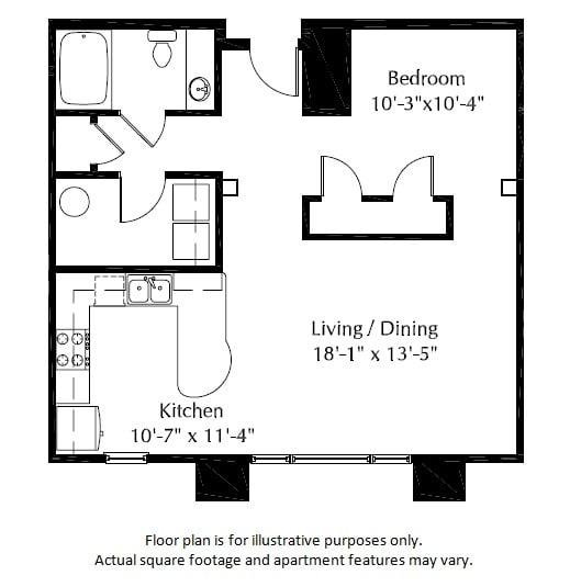 Floor Plan  40E Floor Plan at The District, Colorado, 80222