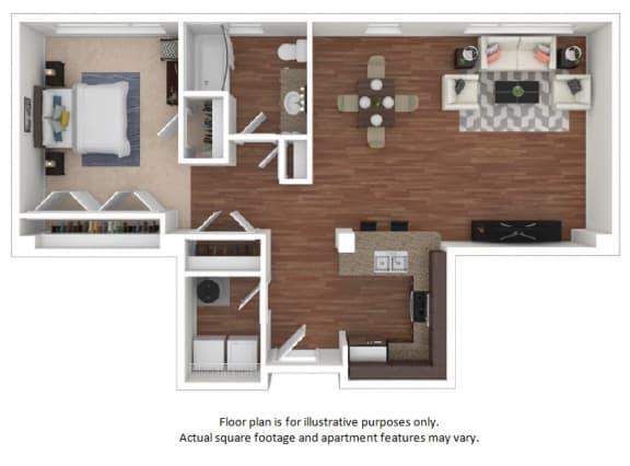 Floor Plan  44 Floor Plan at The District, Denver, CO