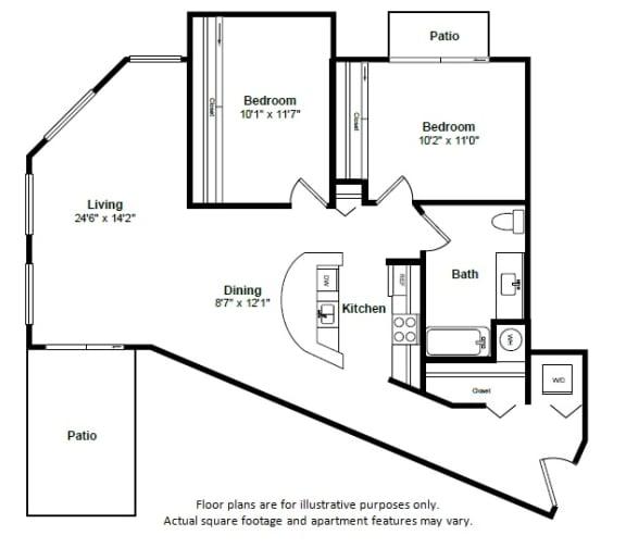 Floor Plan  Trinidad floor plan at Tera Apartments, WA, 98033