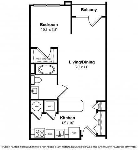 Floor Plan  Floorplan at The Ridgewood by Windsor, 4211 Ridge Top Road, Fairfax, VA 22030