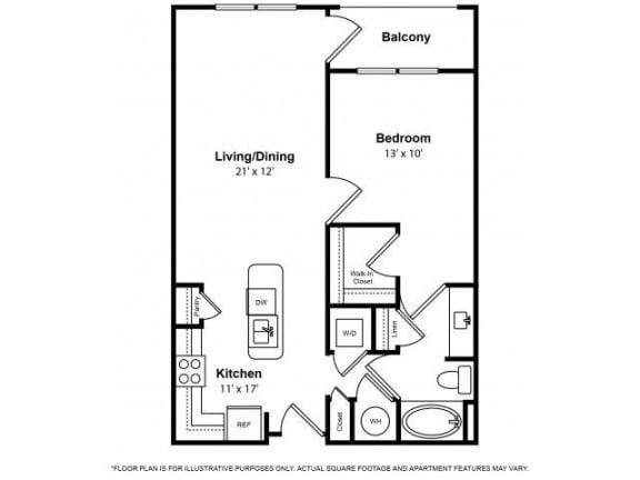 Floor Plan  Floorplan at The Ridgewood by Windsor, 4211 Ridge Top Road, 22030