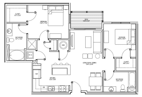 Floor Plan  B4D