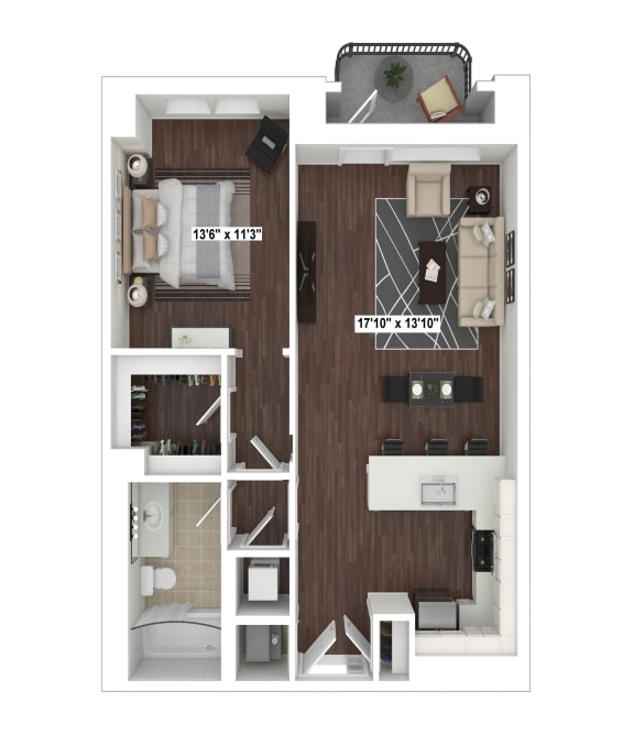 Floor Plan  A3 floor plan at The Woodley.